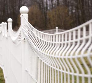 galeria ogrodzenie panelowe białe