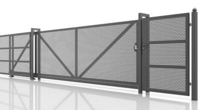 PRO STYL ogrodzenie frontowe z blachy perforowanej