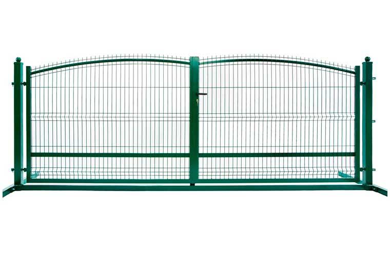 zielona Brama ogrodzeniowa panelowa - Przesuwne i Dwuskrzydłowe