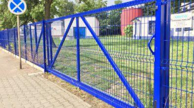 ogrodzenie panelowe niebieskie