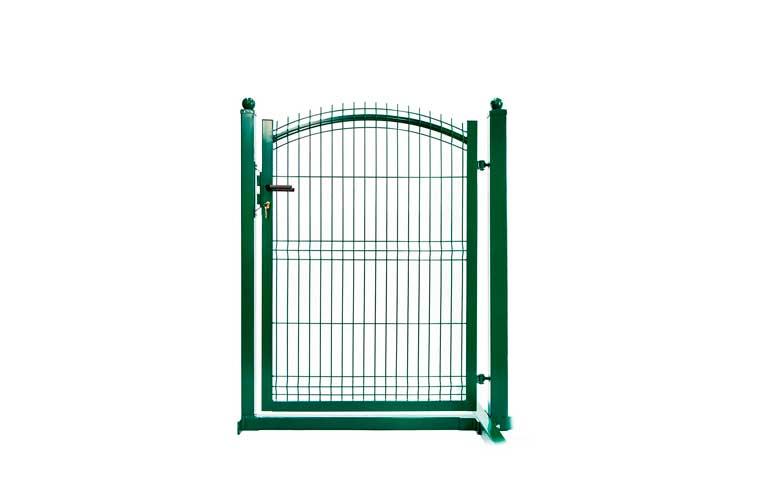 zielona Furtka ogrodzeniowa panelowa